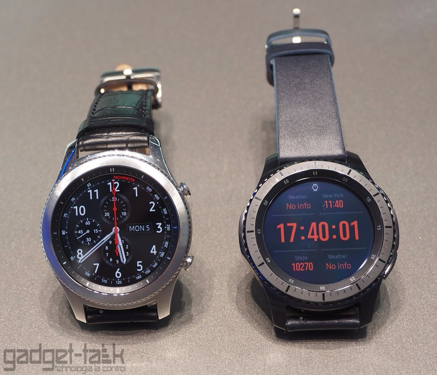 Gear S3 Classic si Frontier