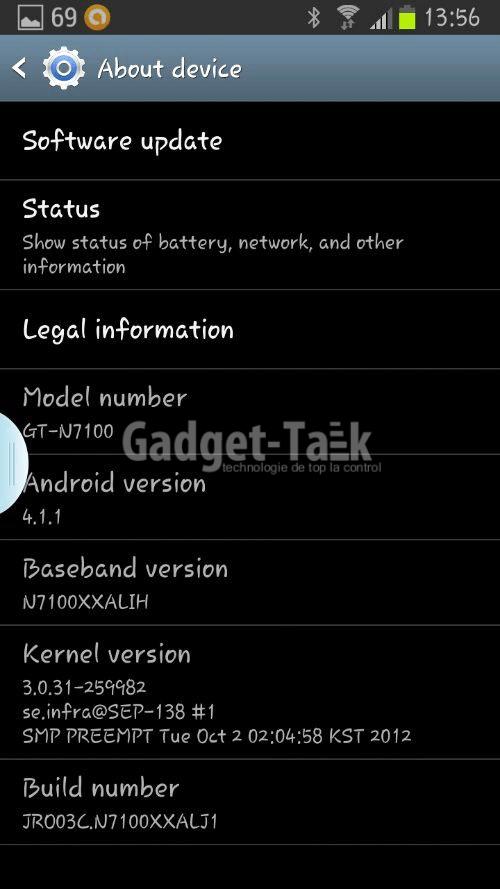 Samsung ofera primul firmware update N7100XXALJ1