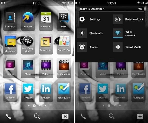 interfata grafica ui blackberry 10