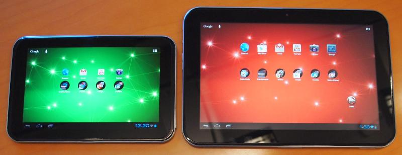 tabletele Toshiba Excite 10 AT300 si Excite 7 AT305