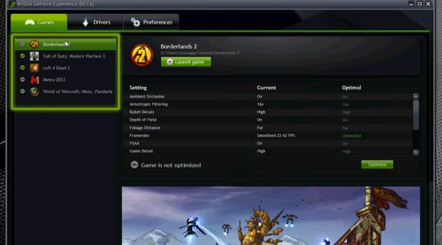 aplicatia Nvidia GeForce Experience Beta