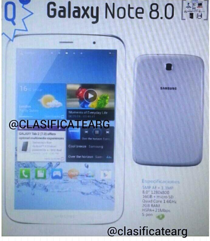 phablet-ul Samsung GALAXY Note 8.0 cu S Pen
