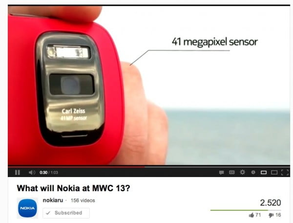 Nokia Rusia speculeaza despre un telefon Nokia  cu WP8 si camera foto de 41MP