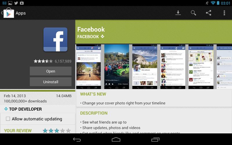 aplicatia facebook update optiunea schimbare imagine fundal profil timeline