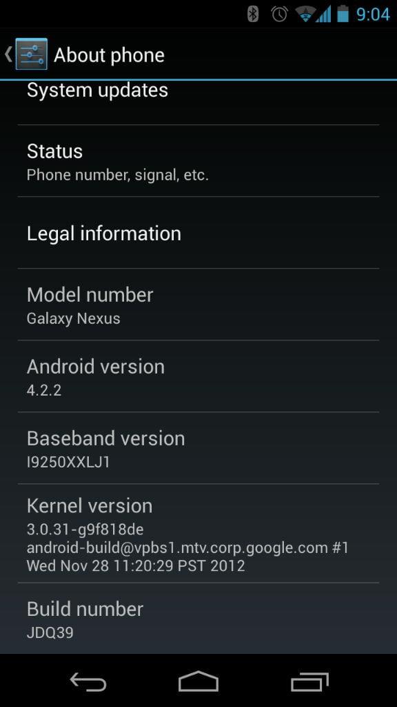 galaxy nexus update android 4.2.2 jdq39