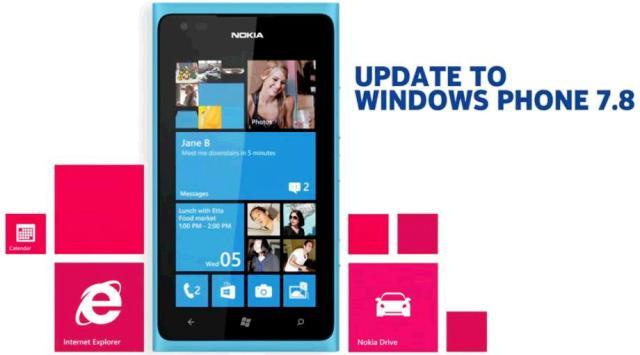 update Windows Phone 7.8 telefon Nokia Lumia