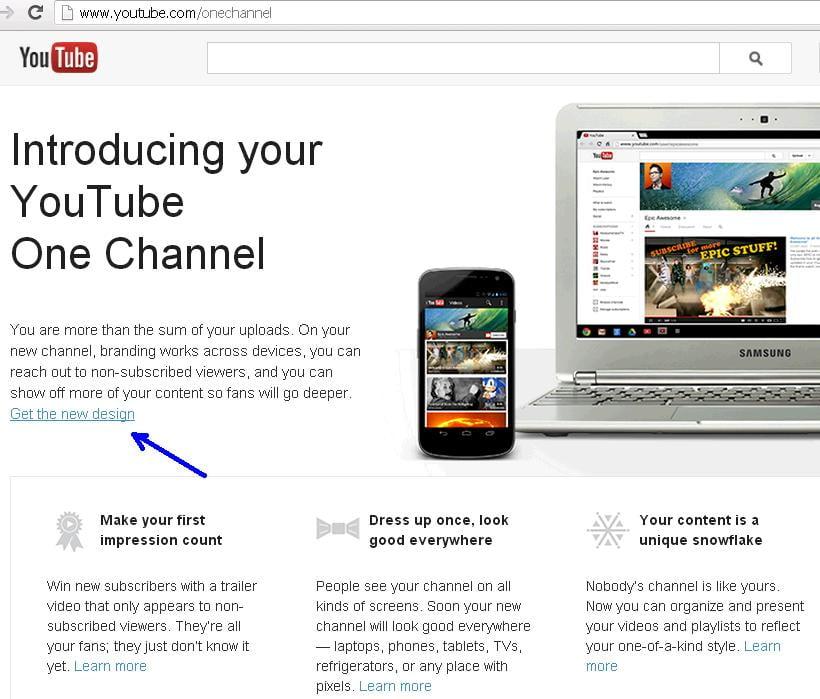 Cum sa activezi Youtube One Channel pasul 2