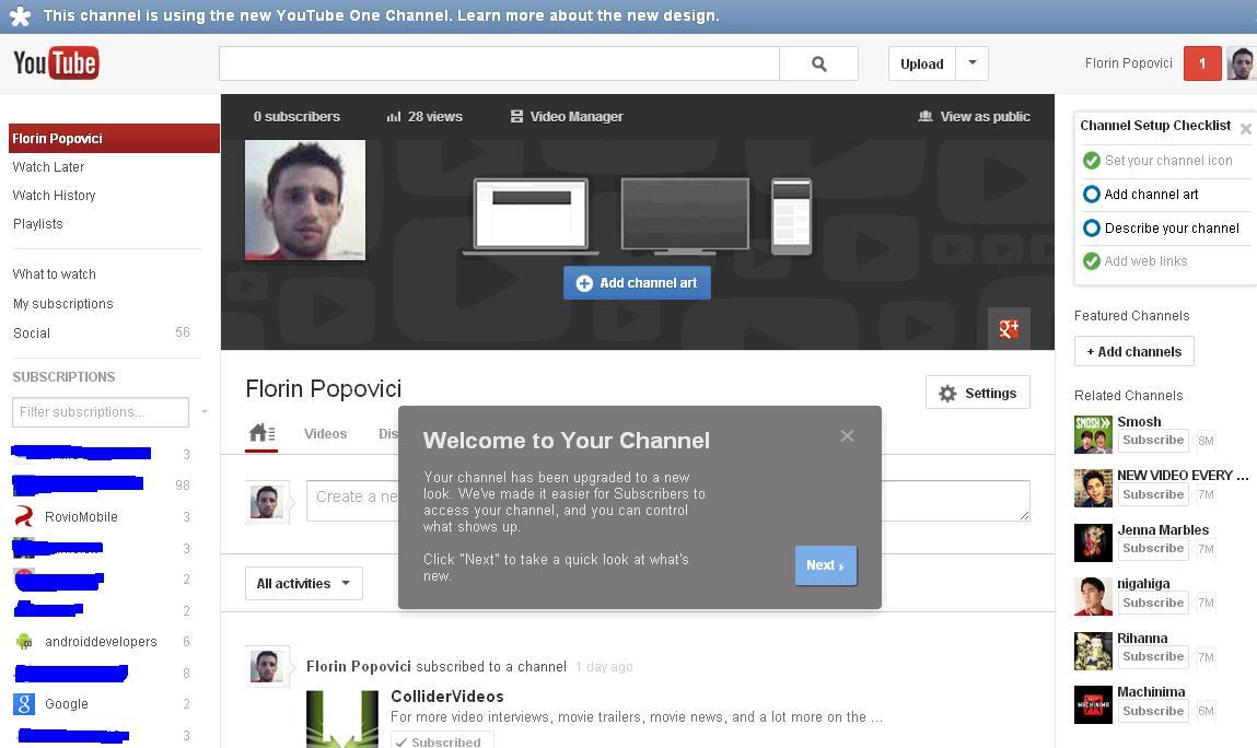 Cum sa activezi Youtube One Channel pasul 4