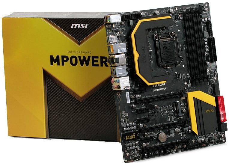 placa de baza MSI Z87 MPower