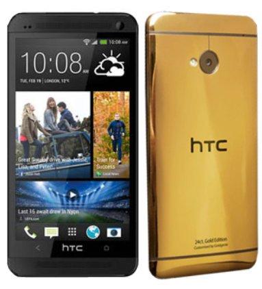 HTC One placat cu aur