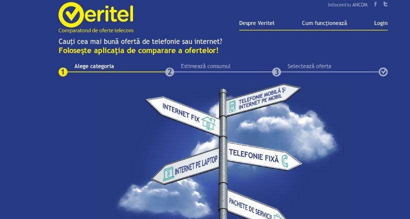 aplicatia online Veritel.ro