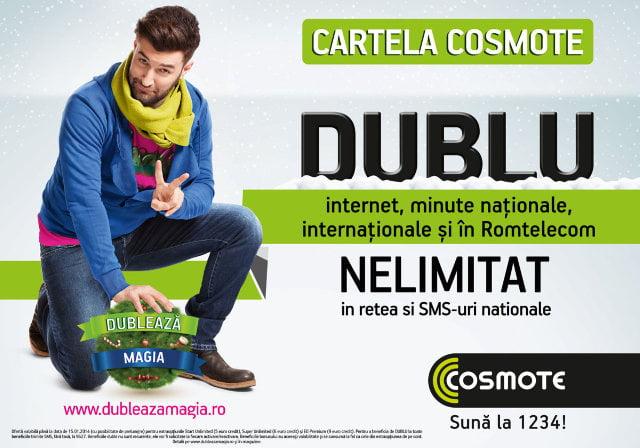 Dubleaza magia COSMOTE prepaid
