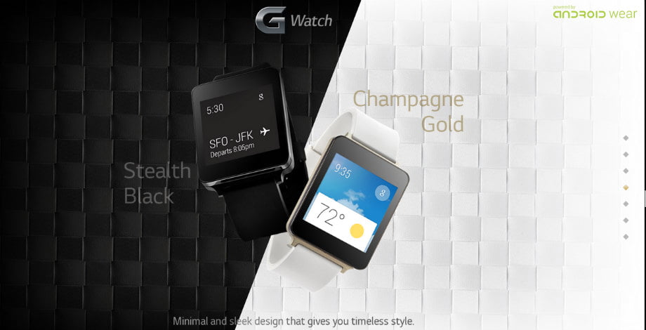 G Watch Champagne Gold