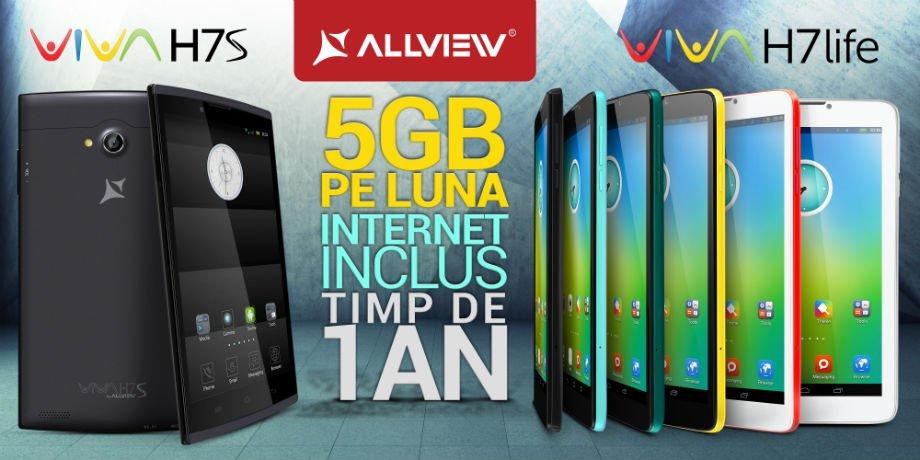 Allview Viva H7S si Viva H7 life internet inclus