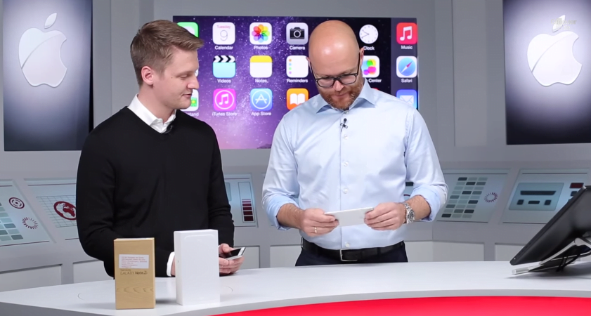 Axel Telezow, editor sef Computer Bild Germania testand iPhone 6 Plus.