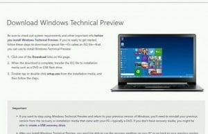 de unde vei putea descarca windows 9 technical preview