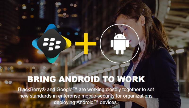 Blackberry si Google