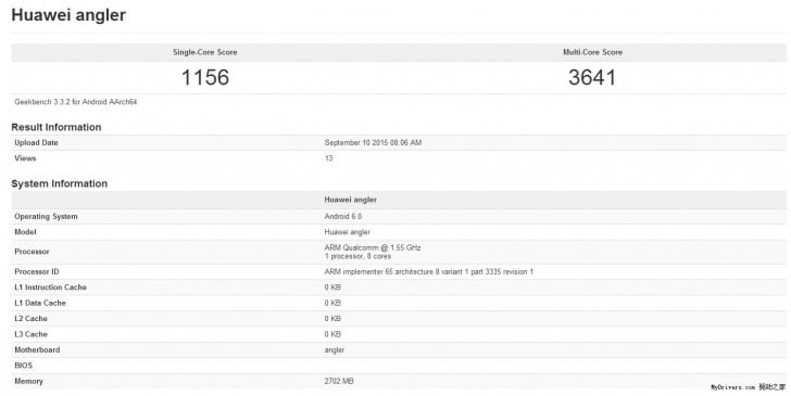 Huawei Nexus apare in testele benchmark
