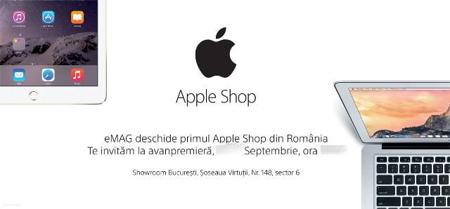 invitatie Apple Shop