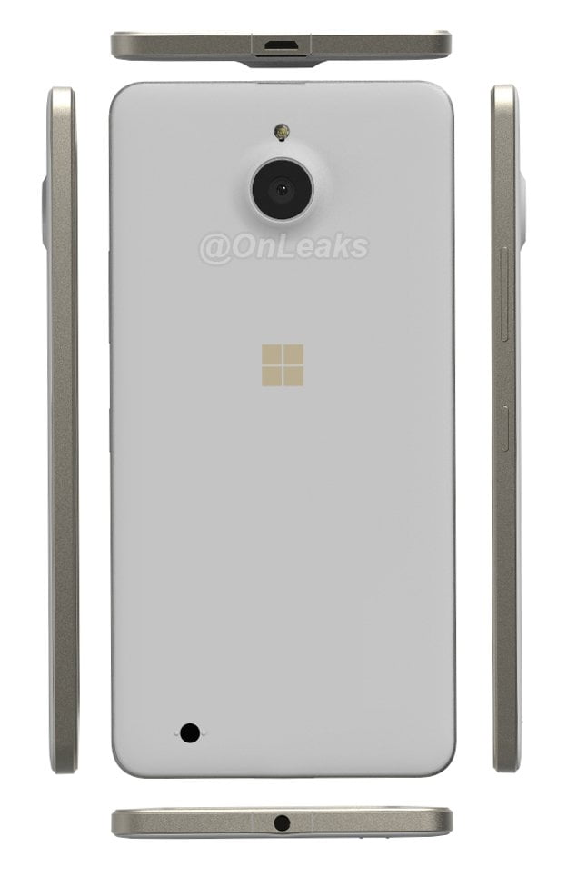 Lumia 850 Pearl Gold