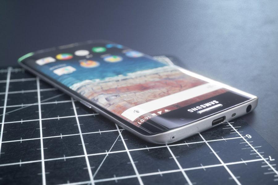 Concept design futurist Samsung Galaxy S7