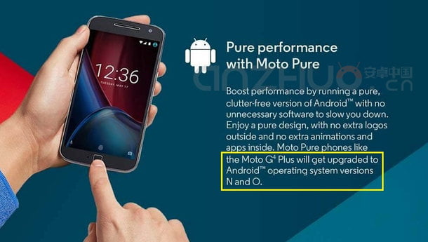 Moto G4 Plus va primi actualizare de software la Android O