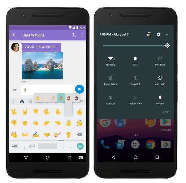 Actualizarea finala Android 7.0 Nougat
