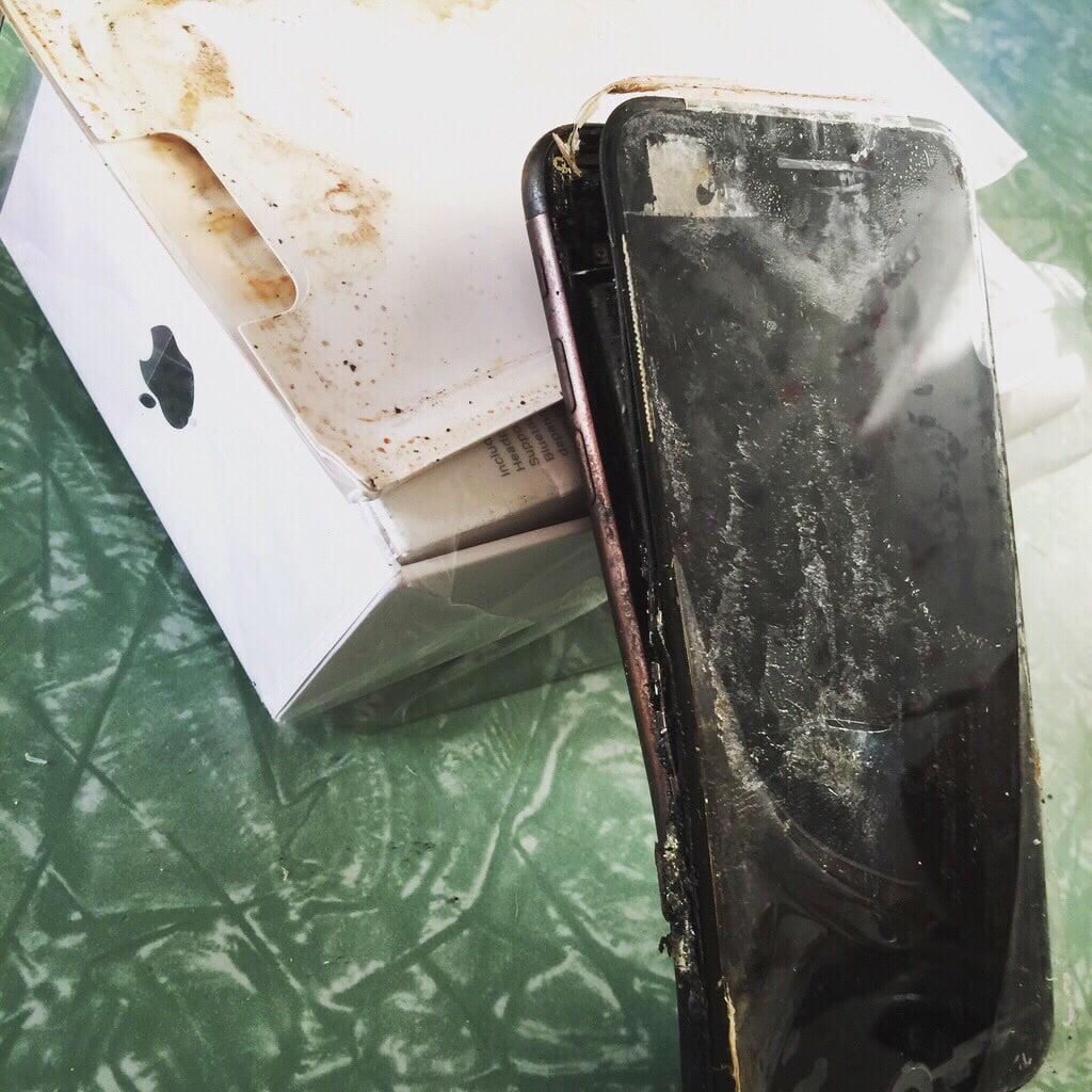 Un presupus iPhone 7 ar fi explodat
