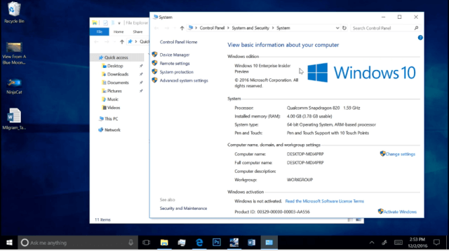 Cum ruleaza Windows 10 pe terminal cu procesor Snapdragon