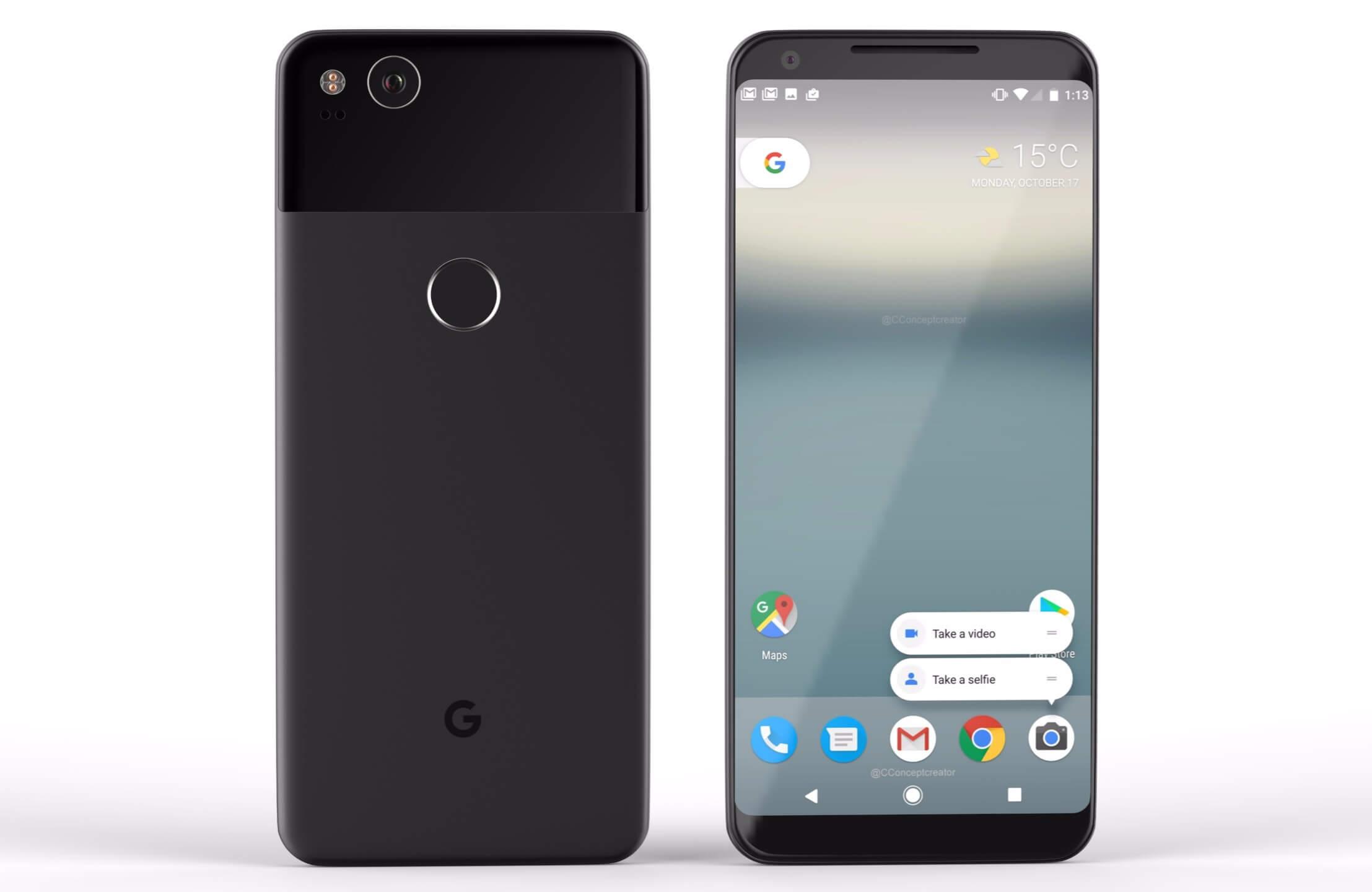 Designul telefoanelor Google Pixel 2