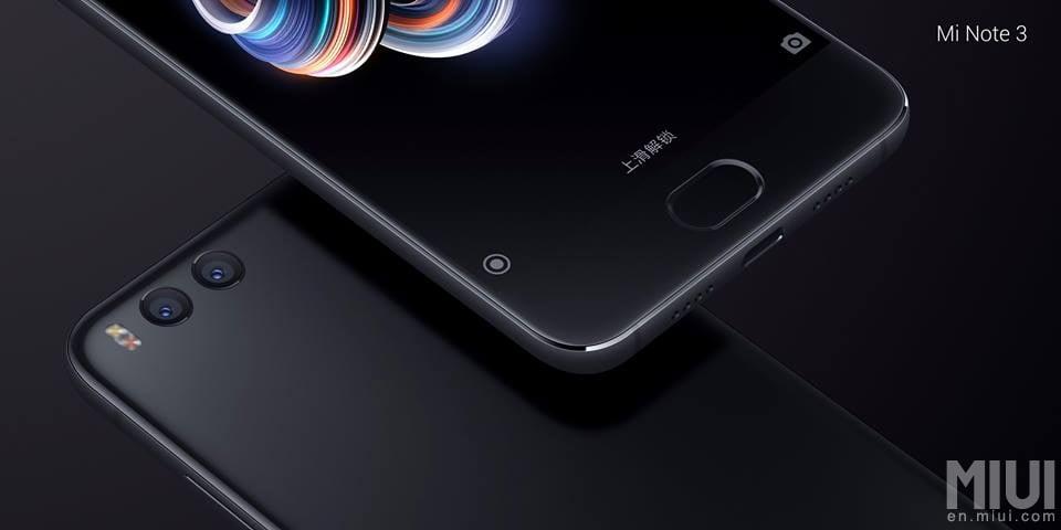 Xiaomi anunta Mi Note 3