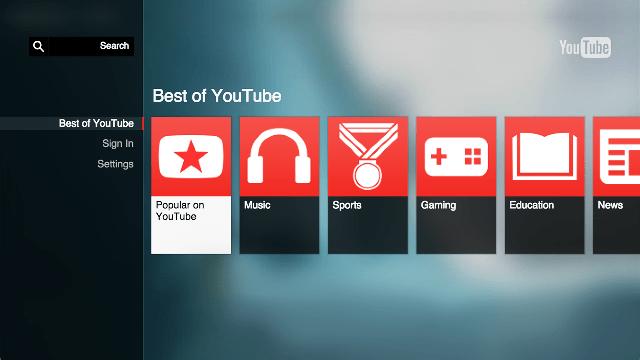Google lanseaza noua aplicatie YouTube pentru televizoare