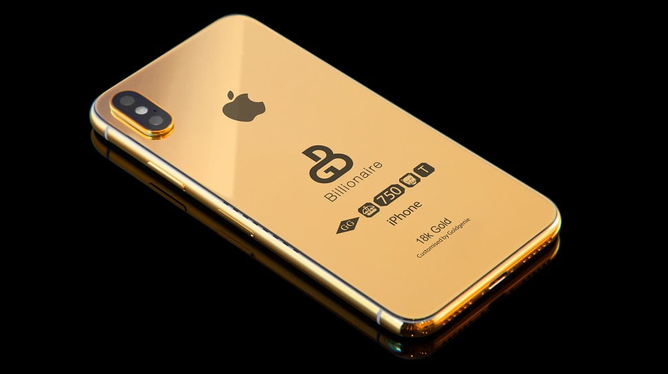 iPhone Xs placat cu aur