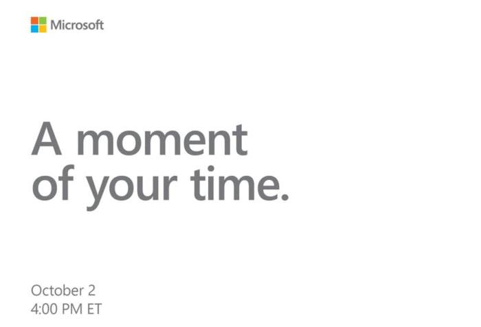 Microsoft anunta evenimentul Surface