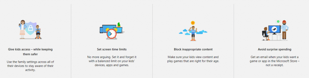 Family safety Edge browser
